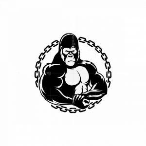 Gorilla Fitness Mascot Logo