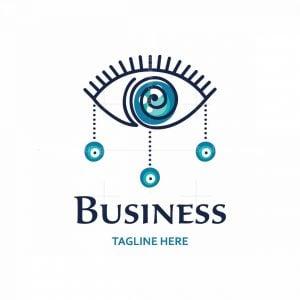 Greek Eye Symbol Logo