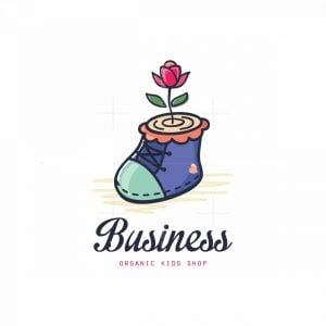 Green Shoes Organic Kids Shop Symbol Logo