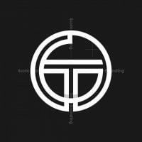 Letter Gt Circle Monogram Logo