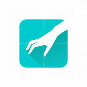 Grabbing Hand Icon Logo