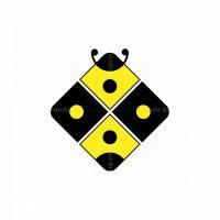 Modern Abstract Honey Bee Logo