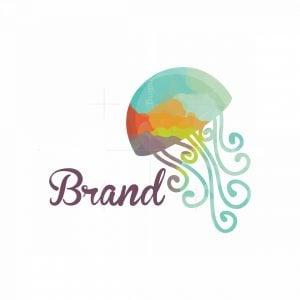 Jellyfish Swirls Artistic Logo