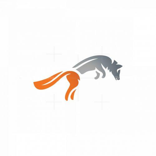 Jumping Silver Fox Logo