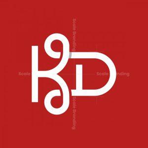 Letter Kd Simple Logo
