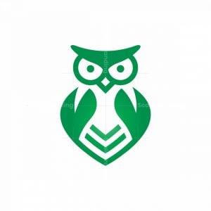 Natural Leaves Owl Logo