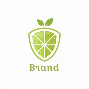 Lemon Shield Symbol Logo