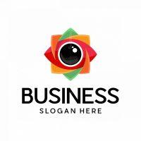 Lens Eye Flower Media Logo