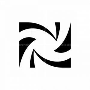 Letter N Or Z Star Logo