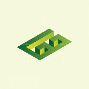 Letters Gg Isometric Maze Logo