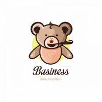 Little Bear Baby Nutrition Symbol Logo