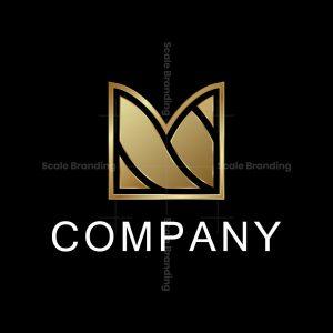 Golden Letter M Logo