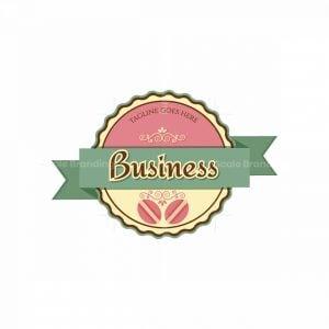 Sweet Macarons Symbol Logo