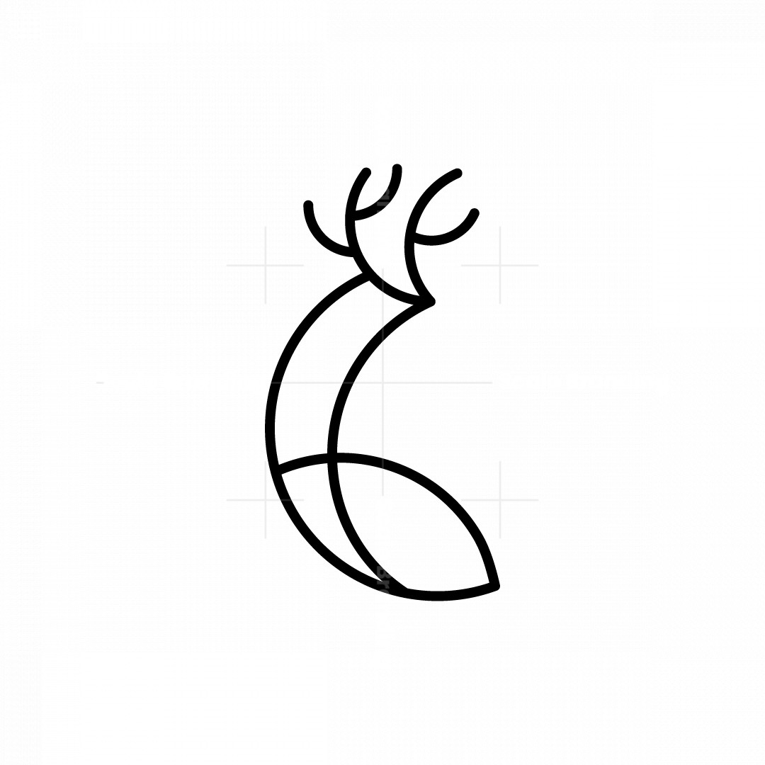 Majestic And Modern Deer Logo
