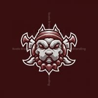 Warrior Pitbull – Dog Mascot Logo Design