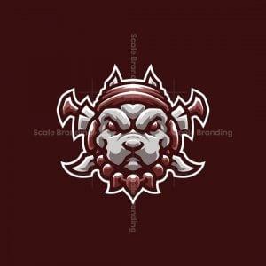 Warrior Pitbull – Dog Mascot Logo Design