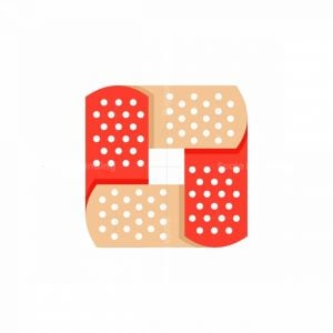 Medical Patch Icon Logo