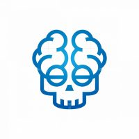 Medical Mind Skull Logo