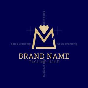 Initials Ml Bag Logo And Diamond