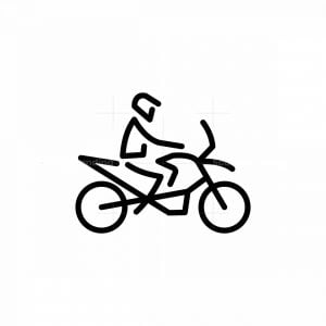 Line Art Motorcycle Icon Logo