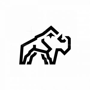 Mountain Bison Logo Buffalo Logo