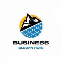 Mountain Solar Energy Industrial Logo
