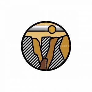 Canyon/mountain Icon Logo