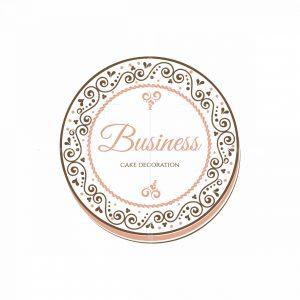 Cake Decoration Business Symbol Logo