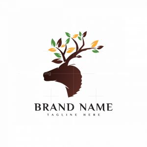 Nature Deer And Egale Logo