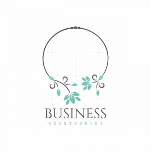 Necklace Leaves Jewelry Symbol Logo