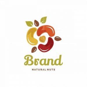 Nuts Rose Symbol Logo