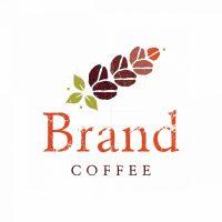 Organic Coffee Beans Symbol Logo
