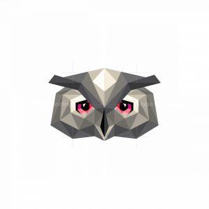 Low Poly Owl Icon Logo