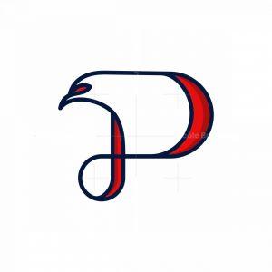 Letter P Eagle Line Logo