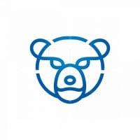 Letter P Polar Bear Logo