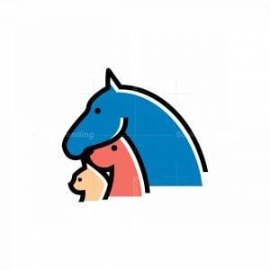Horse, Dog And Cat Icon Logo