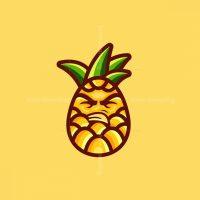 Pineapple Mascot Vector Logo