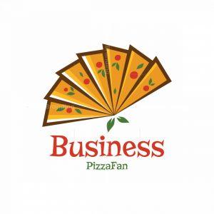 Pizza Fan Symbol Logo