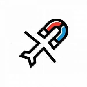 Plane Magnet Logo