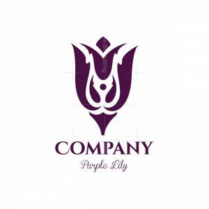 Purple Lily Symbol Logo