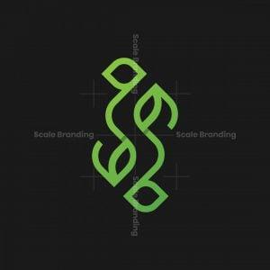 Letter S Leaf Modern Logo