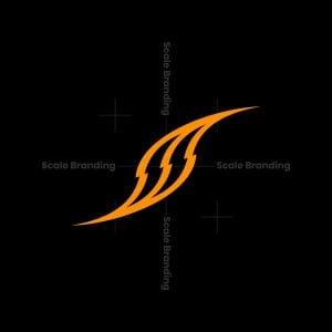 Letter S Power Shape Logo