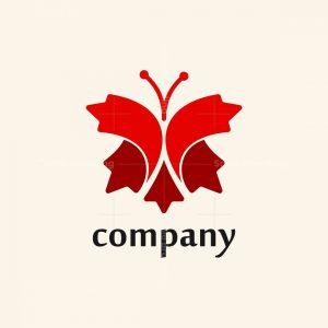 Maple Leaves Butterfly Logo