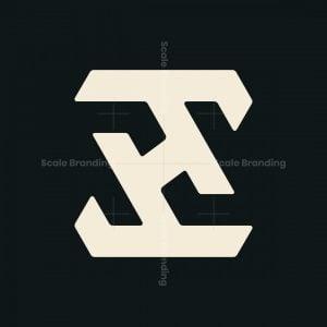 Monogram Letter Zh Logo