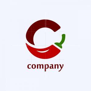 Letter C For Chilli Logo