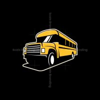 School Bus Icon Logo