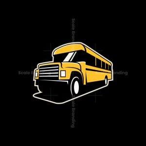 School Bus Icon Logo
