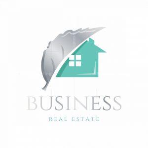 Silver Leaf Real Estate Symbol Logo
