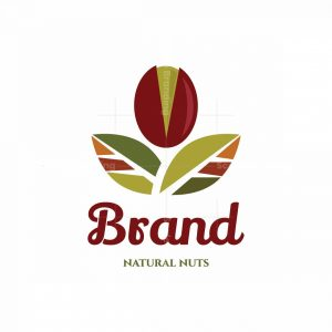 Simple Natural Nuts Symbol Logo