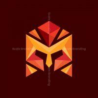 Spartan Polygon Modern Logo